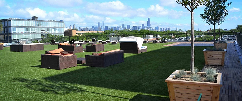 synthetic turf for commercial landscapes